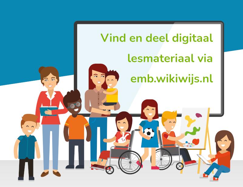 Vind en deel digitaal lesateriaal via emb.wikiwijs.nl